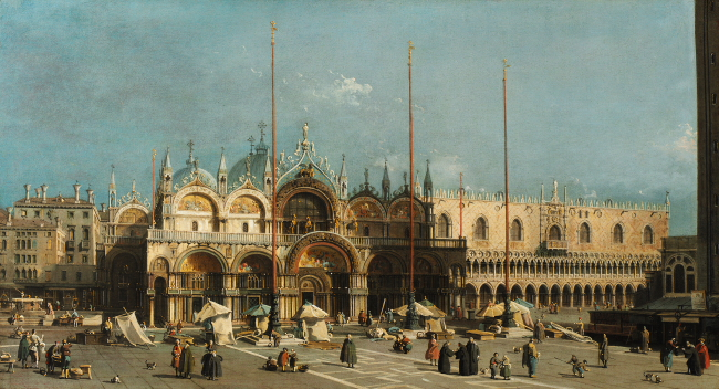 Canaletto, Markusplatz mit Dogenpalast. 1740-50
