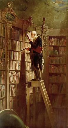 Carl Spitzweg, Der Bücherwurm, um 1850