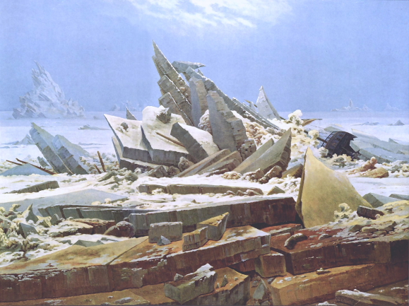 Caspar David Friedrich. Das Eismeer, um 1823/24