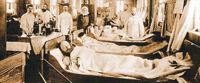 Ubekannt: Cholerabaracke in Hamburg während der Choleraepidemie von 1892 / www.wikipedia.de