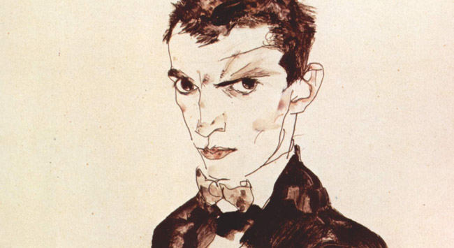 Egon Schiele, Selbstporträt 1912