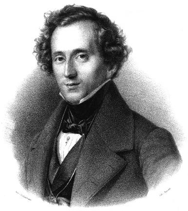 F. Mendelssohn Bartholdy. Lithografie von Friedrich Jentzen, 1837