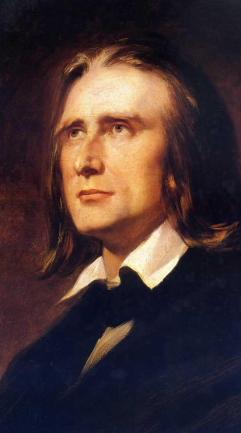 Franz Liszt, 1856. Nach einem Gemälde von Wilhelm Kaulbach