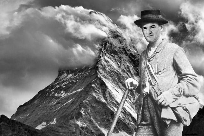 Fotos: Matterhorn (Champer); Edward Whymper (mit Gesicht von Gottschick) / Montage: Gugger / Bildquellen: www. wikipedia.de