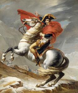 Jacques Louis David, Bonaparte beim Überschrei- ten der Alpen am Großen Sankt Bernhard, 1800