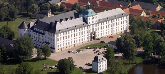 Luftbild Kulturdenkmal Schloss Gottorf Schleswig-Holsteinische Landesmuseen. Foto: Wolfgang Pehlemann / www.wikipedia.de