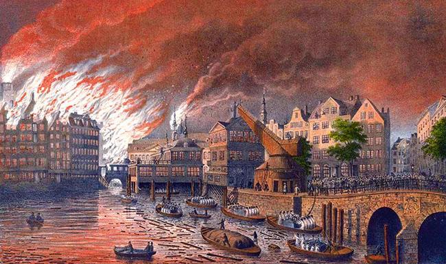 Gebr. Suhr, Der Brand 1842
