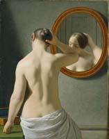 Christopher Wilhelm Eckersberg (1783-1853), Weiblicher Rückenakt vor einem Spiegel, 1841, © Sammlung Hirschsprung, Kopenhagen
