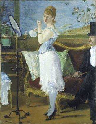 Édouard Manet (1832–1883), Nana, 1877, Öl auf Leinwand, 154 x 115 cm. © Hamburger Kunsthalle/bpk. Photo: Elke Walford