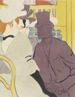 Henri de Toulouse-Lautrec (1864-1901)  Der Engländer im Moulin Rouge, 1892   Farblithographie, 571 x 424 mm  Hamburger Kunsthalle, Kupferstichkabinett  © Hamburger Kunsthalle/bpk  Photo: Christoph Irrgang